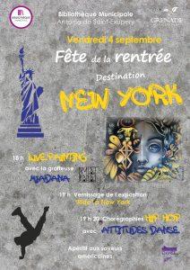Fête de la Rentrée de la Bibliothèque : Destination New York @ Bibliothèque Municipale | Grenade | Occitanie | France