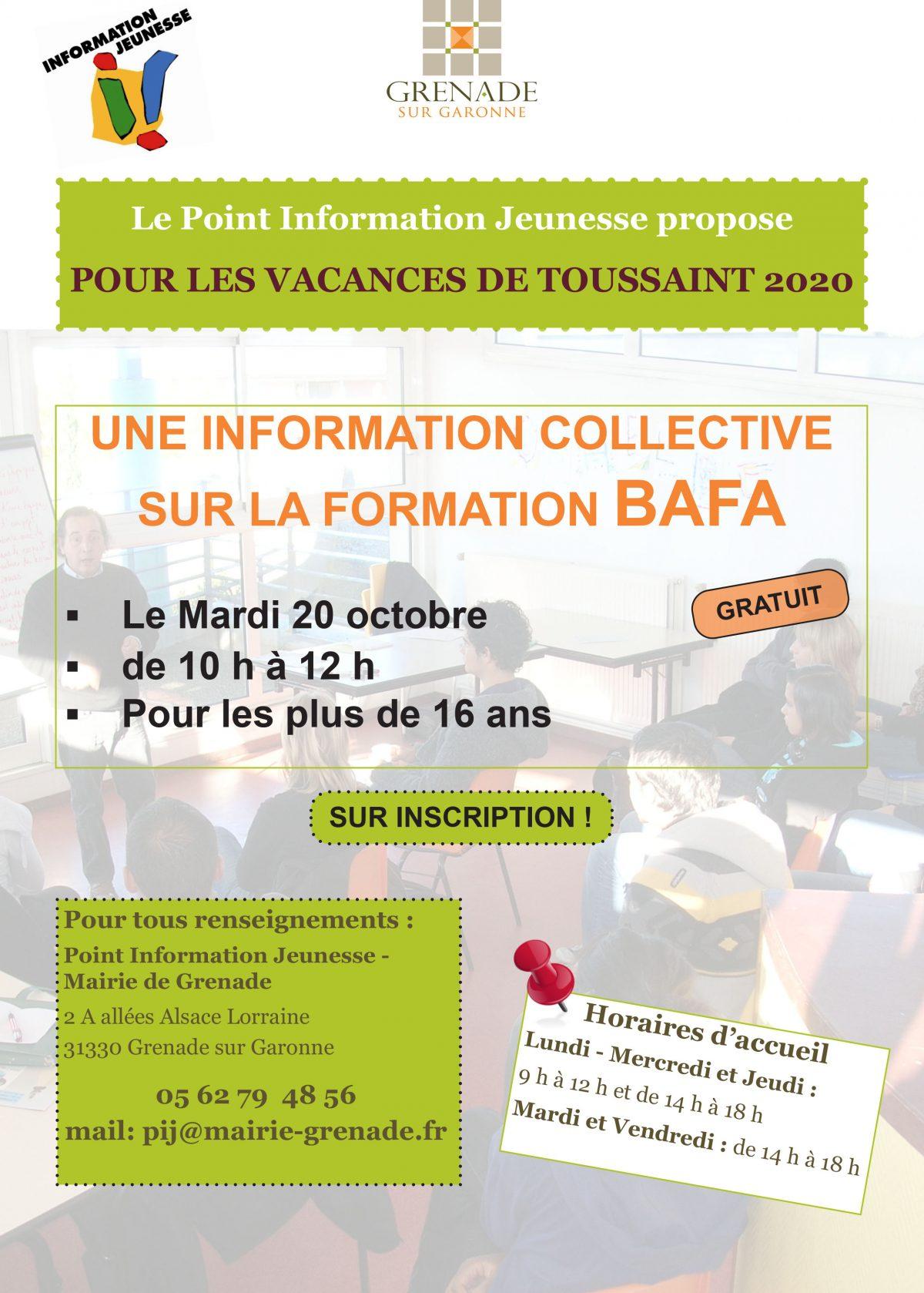 INFORMATION COLLECTIVE SUR LA FORMATION BAFA