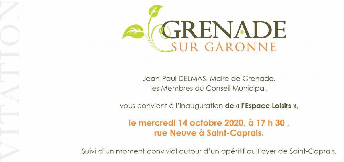 Saint-Caprais-Inauguration de « l'Espace Loisirs »