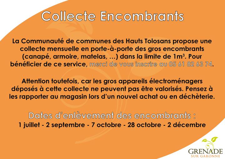 Communauté de communes propose une collecte mensuelle en porte-à-porte des gros encombrant