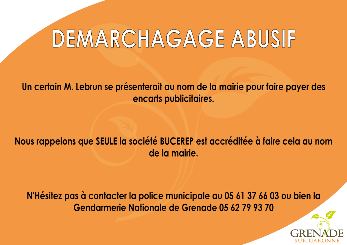 Attention : démarchage abusif